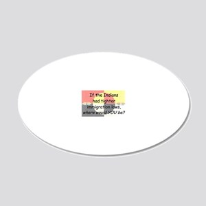 Immigration Laws 20x12 Oval Wall Decal
