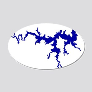 NACI DRAGON [blue] 20x12 Oval Wall Decal