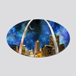 Spacey St. Louis Skyline Wall Decal