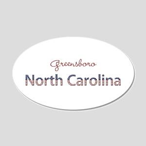 Custom North Carolina 20x12 Oval Wall Decal