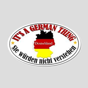 German Thing 22x14 Oval Wall Peel