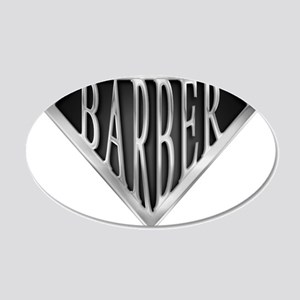 spr_barber_chrm 20x12 Oval Wall Decal