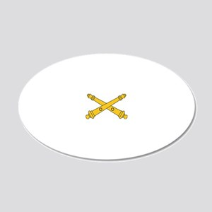 Army-Artillery-Branch-Insign 20x12 Oval Wall Decal