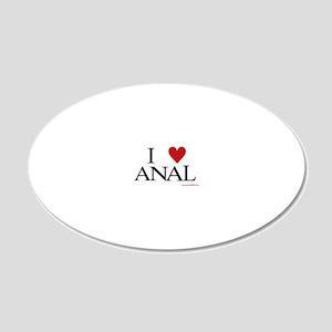 analmug 20x12 Oval Wall Decal