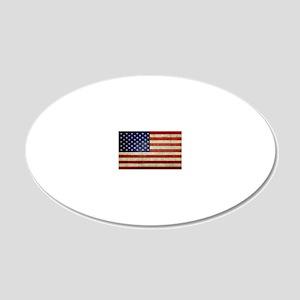 5x3rect_sticker_american_fla 20x12 Oval Wall Decal