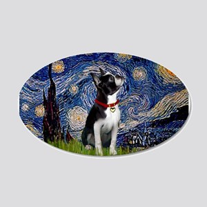Starry Night & Boston 22x14 Oval Wall Peel