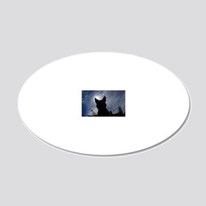 Stealthy Cattle Dog 20x12 Oval Wall Decal