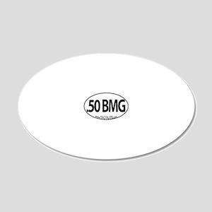 50-BMG-Euro 20x12 Oval Wall Decal