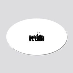 St. Louis Skyline 20x12 Oval Wall Decal