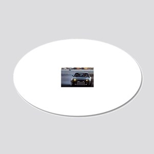 240sx drift action 20x12 Oval Wall Decal