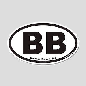 Belmar Beach BB Euro 20x12 Oval Wall Peel
