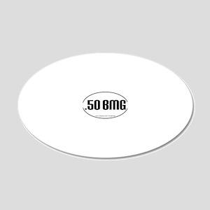 50BMG oval sticker PATHS 20x12 Oval Wall Decal