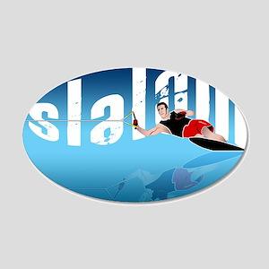 Slalom WaterSkier 20x12 Oval Wall Peel