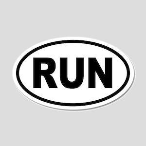 Basic Running 20x12 Oval Wall Peel