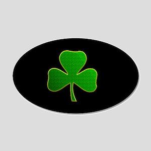 Lucky Irish Shamrock 20x12 Oval Wall Decal