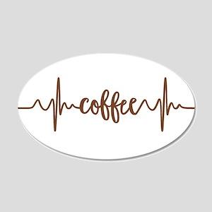 COFFEE HEARTBEAT Wall Decal