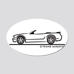 New Ford GT Mustang Convertib 22x14 Oval Wall Peel