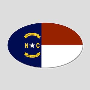 North Carolina State Flag 20x12 Oval Wall Decal