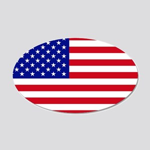 Oval American Flag Wall Decal