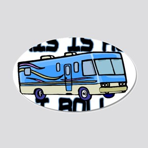 How I Roll RV 20x12 Oval Wall Decal