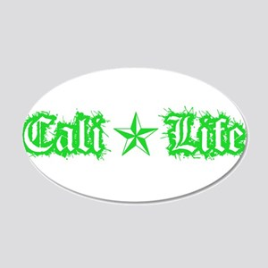 cali life 1a green Wall Decal