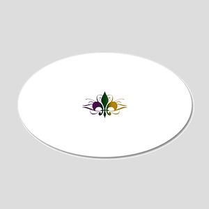 fleur-de-lis-swirls_color 20x12 Oval Wall Decal