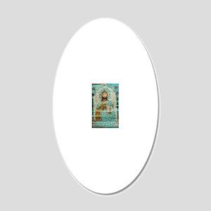 ChristTeacherLaptop 20x12 Oval Wall Decal
