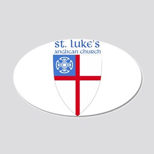 St Luke's 20x12 Oval Wall Peel