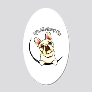 Fawn Frenchie IAAM 20x12 Oval Wall Decal