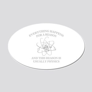 Everything Happens For A Reason 22x14 Oval Wall Pe