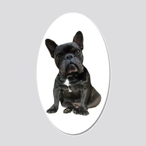 French Bulldog Puppy Portrai 20x12 Oval Wall Decal