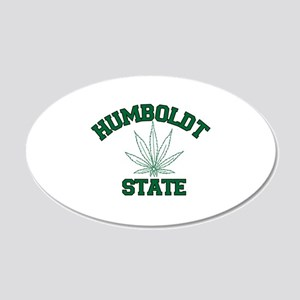 HUMBOLDT POT STATE 20x12 Oval Wall Decal