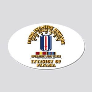 Just Cause - 193rd Infantry 20x12 Oval Wall Decal
