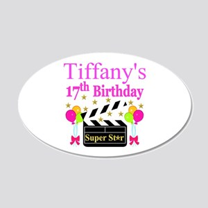 PERSONALIZED 17TH 20x12 Oval Wall Decal
