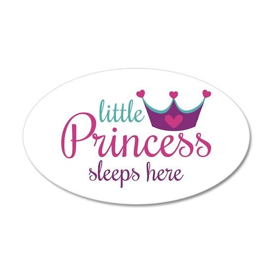 Little Princess Sleeps Here Wall Decal