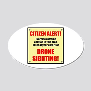 Citizen Alert! Drone Sighting! 35x21 Oval Wall Dec