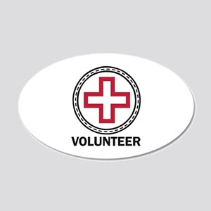 Volunteer Red Cross Wall Decal