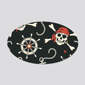 Pirate Skulls Wall Decal