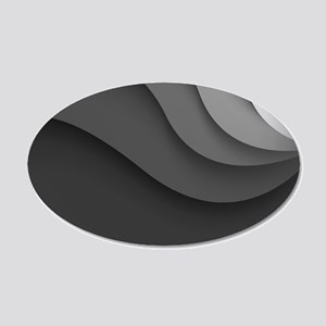 Black Abstract 35x21 Oval Wall Decal