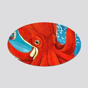 Octopus Painting Wall Decal