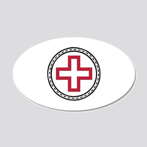 Circled Red Cross Wall Decal