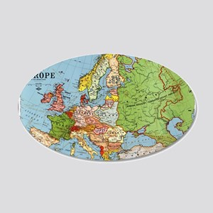 Map of Europe 35x21 Oval Wall Decal