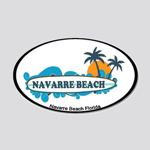 Navarre Beach - Surf Design. 35x21 Oval Wall Decal