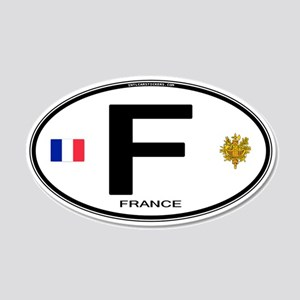 France 35x21 Oval Wall Peel - Euro-style FR