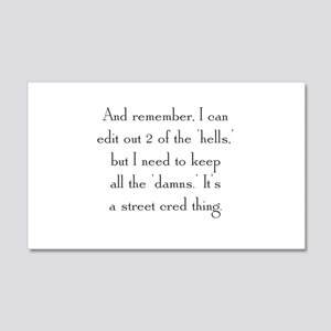 Street Cred Thing 20x12 Wall Decal