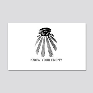 Know Your Enemy 1 20x12 Wall Decal