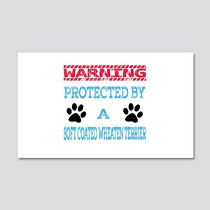 Warning Protected by a Soft Coate 20x12 Wall Decal