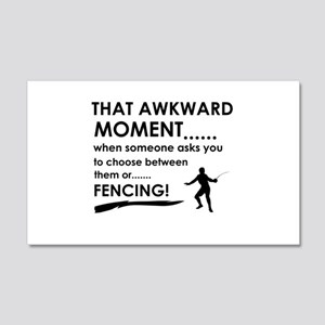 Fencing sports designs 20x12 Wall Decal