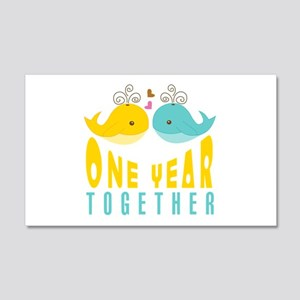 1st Anniversary Gift For Her 20x12 Wall Decal