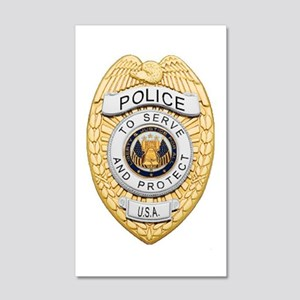 Police Badge 20x12 Wall Decal